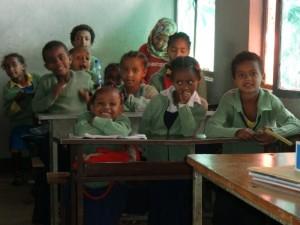 Die erste Klasse an der Fasilschule