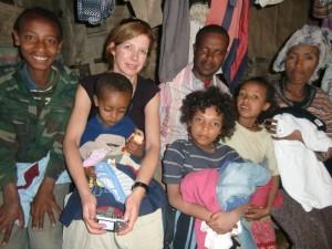 Familie Ademe mit Linda van Alphen (Kinder v. links nach rechts. Suwalo, Belay,Yeshalem, Almaz)