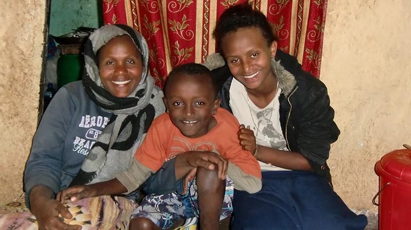 2014 Mutter Sohn Eyob und Tochter Fasika
