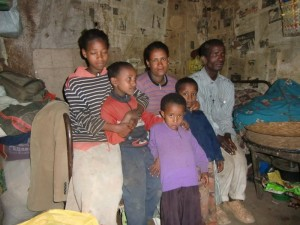 Familie Sisay - Kinder: Yeshimebet, Eyaya, Yordanos, Shewaye