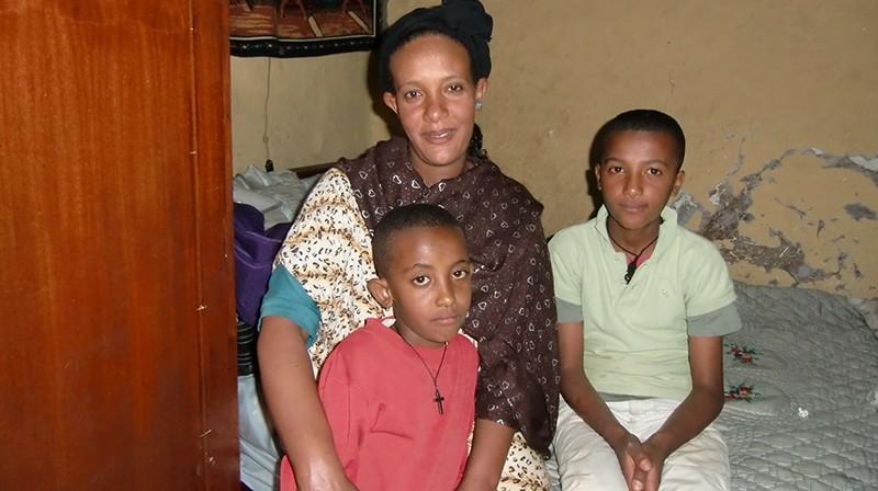 2013 Mutter, Meseret und die Söhne Kidus und Eyob