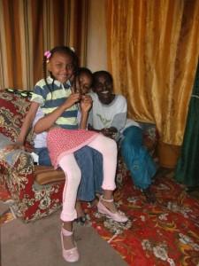 Hermela mit Mutter Abebech