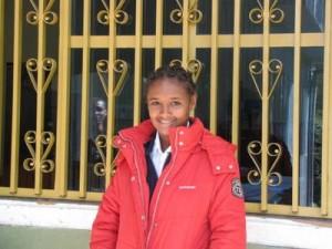 Kidist (16) in der Akaki Schule