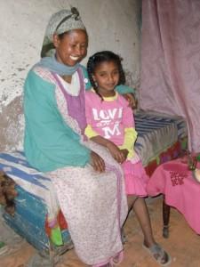 Mehret Gebreselassie mit Tochter Bezawit
