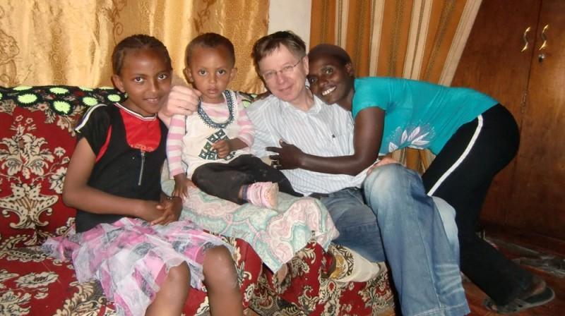 2013 Worku Familie Mutter Abebech Hermela und Pflegesohn Leuel