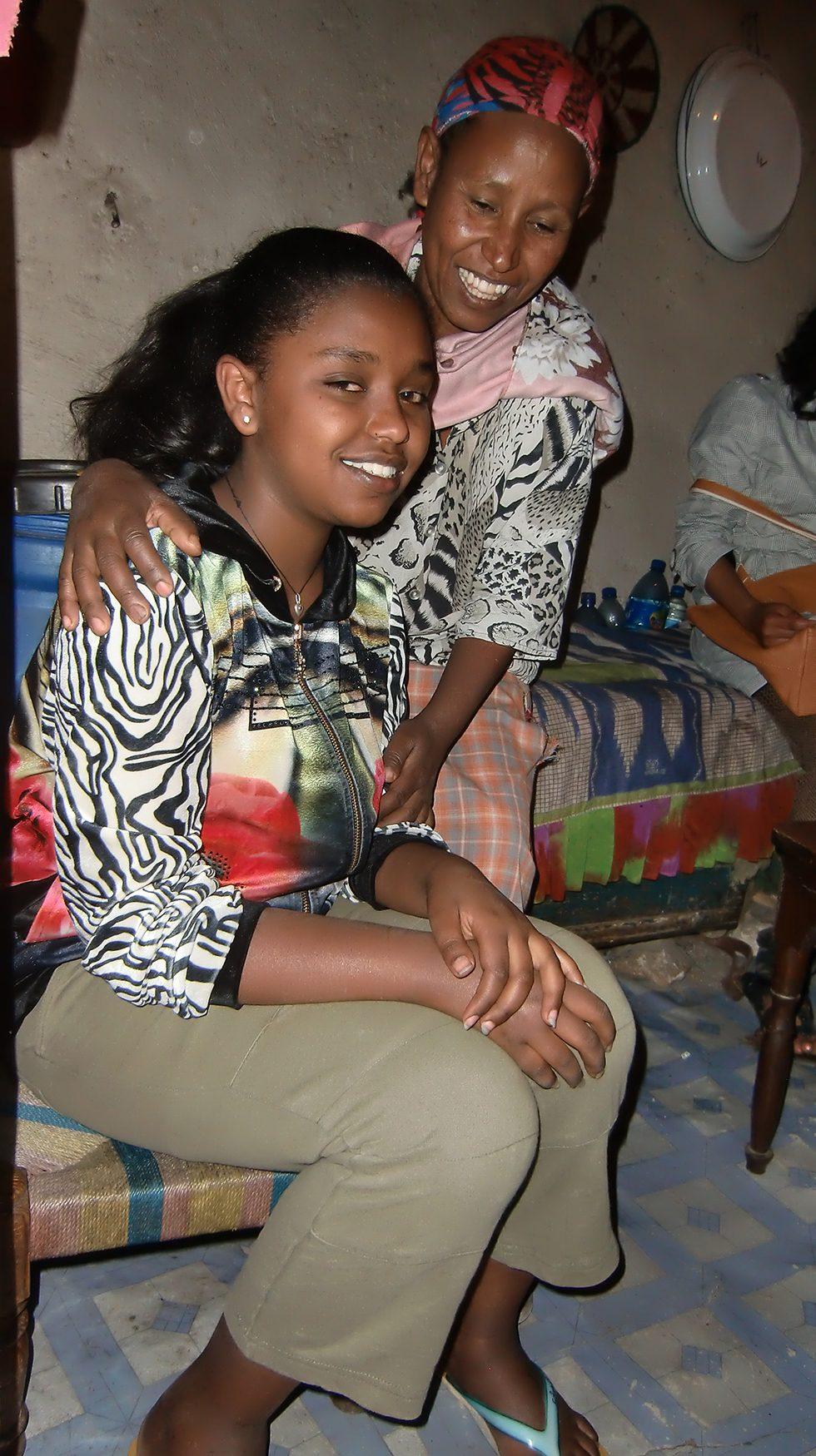 Dez. 2017- Tochter Bezawit und Mutter Mehret