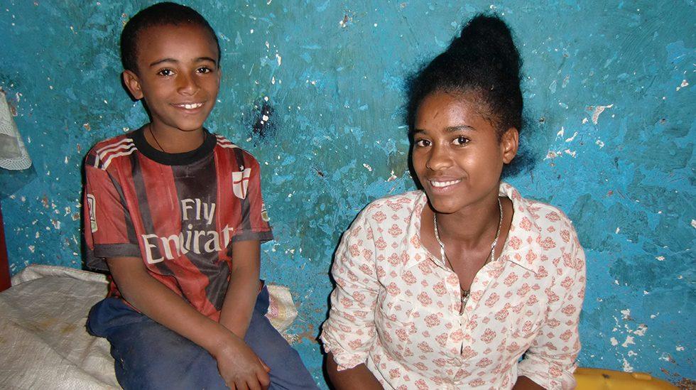 Dez. 2017 - Sohn Yonas und Tochter Alemnesh