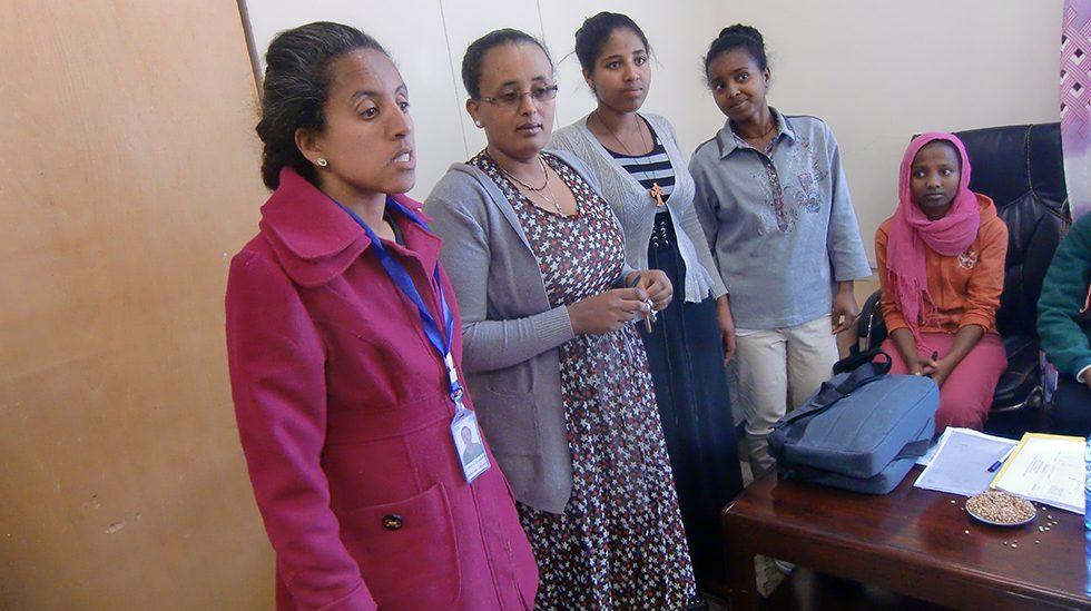 Dez. 2017 - Haimanot (Leitung Büro für Soziales und Gleichstellung an der Uni. Debre Birhan), Mekdes (Projektleiterin) sowie 3 von uns geförderte Studentinnen
